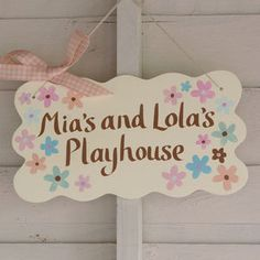 Personalised Playhouse Sign                                                                                                                                                                                 More