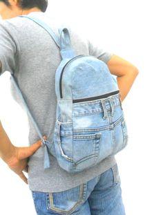 LEVIS jeans mochila denim reciclado jean bolsa por Avivahandmade Denim  Reciclado 93ed6c9d6e6d