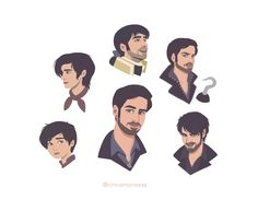 The evolution of Emma Swan & Killian Jones (now in color!) b/w versions here: Emma // Killian Hook Ouat, Killian Hook, Killian Jones, Captain Swan, Captain Hook, What Should I Draw, Once Upon A Time Funny, Time Pictures, Rick Riordan Books
