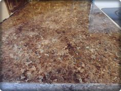 how-to paint laminate counters to look like granite. i think i am