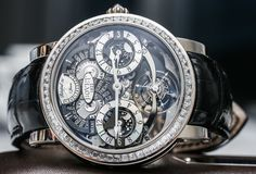 Hands-on review of the 2014 Bovet Recital 16 tourbillon triple time zone watches from the Dimier collection, in 18k red gold & 18k white gold