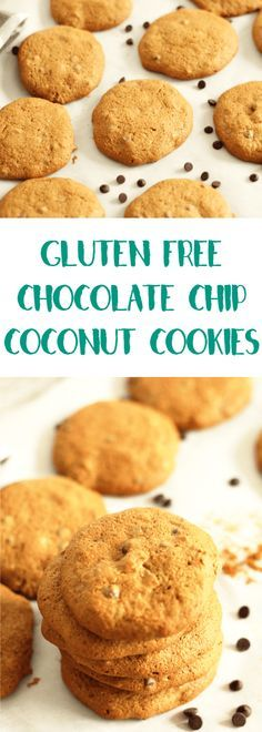 Gluten Free Chocolate Chip Coconut Cookies | Lean, Clean, & Brie
