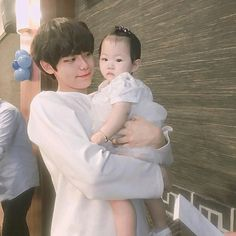 ullzzang boy with baby (@park_bosung)