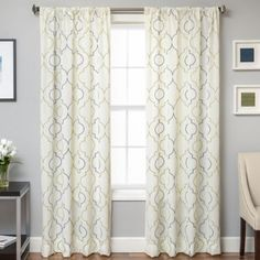 Buy Monza 108-Inch Window Curtain Panel in Silver/Pewter from Bed Bath & Beyond