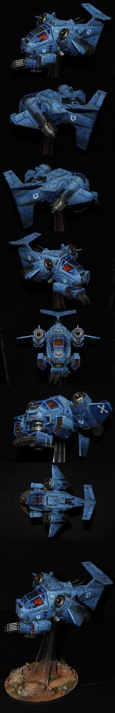Space Marine Stormtalon Gunship - Ultramarine... wish I could paint like that.