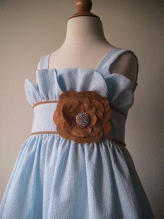 flower girl dress for nautical wedding