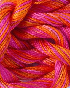 Perle Cotton Yarns in our Personality Pink color palette