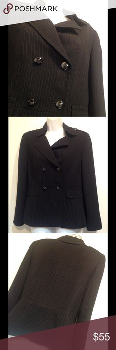 Tahari women's black suit Tahari women's black suit Blazer is size 8P Pants are 4P Inseam 30 inches no holes or stains smoke free Tahari Jackets & Coats Blazers