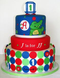 Alligator theme First Year by Cakes with L.O.V.E., via Flickr