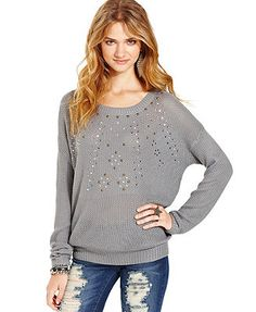 Teen Vogue Top, Embellished Sweatshirt