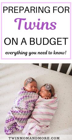 Are you pregnant with twins and on a tight budget? This post walks you through everything you need to know when you're expecting twins on a budget! Budget twin registry guide and ideas for twin gear and products that are affordable. Newborn Twins, Newborn Care, Triplets, Newborns, Twin Mom, Twin Babies, Kids Sleep, Baby Sleep, Baby Baby