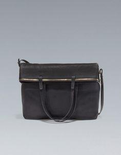 SOFT SHOPPER WITH ZIPS - Handbags - Woman - ZARA United Kingdom