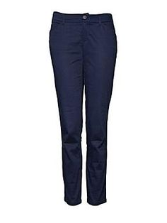 Mango capri pocket trousers, navy