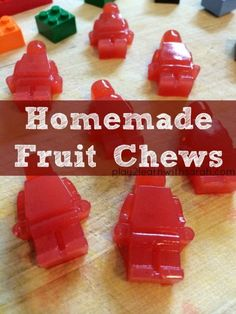 Kids in the Kitchen: Homemade Fruit Chews - Life, Love and Thyme Fruit Chews, Fruit Snacks, Lunch Snacks, Kid Snacks, Snacks Ideas, Fruit Trays, Toddler Snacks, Snacks Recipes, Candy Recipes