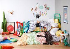 Textiles infantiles alegres y coloridos en Sack Me