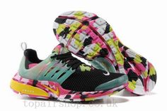 Nike Air Presto Trainers Women Camouflage Black UK Style