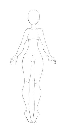 Art Drawings Sketches Simple, Kawaii Drawings, Body Drawing Tutorial, Drawing Body Poses, Drawing Anime Clothes, Art Poses, Drawing Reference Poses, Drawing Base, Drawing Techniques