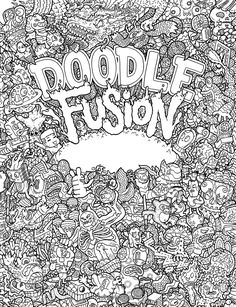 get wacky creative with adult coloring book doodle fusion by lei melendres rabbleboy kenneth lamug author illustrator - Doodle Coloring Book