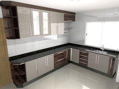 Fotografia de Cozinha 3D por Klau Móveis Planejados #85695.