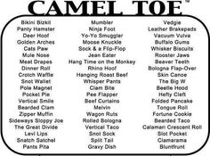 Camel toe nicknames