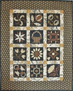 Oh, I really like this one... 'Mocha Parade'  is one of the beautiful quilts in Jo Morton's NEW BOOK 'For All Seasons'…