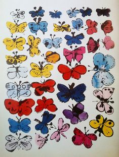 Butterflies Illustration by Andy Warhol