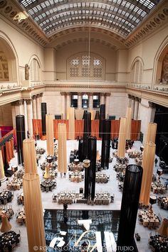Union Station Chicago reception set up.  Photo by Riverbend Studio, Inc.