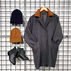 Combat the coming chill with the Long Wool Coat, City Boot and cold weather headwear!