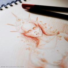 Pencil sketch =) #sketch #fantasy #melaniedelon