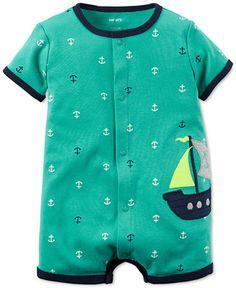 Carter's Baby Boys' Anchor-Print Romper - Kids & Baby - Macy's