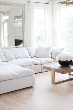 I have received so many inquiries on where our sofa/sectional is from so I thought I would write a post and share our opinions on it. Living Room Sofa, Home Living Room, Living Room Decor, Bedroom Sofa, Sofa Design, Furniture Design, Plywood Furniture, Design Design, Painted Furniture