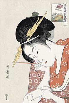 喜多川歌麿 高名美人六家撰4 扇屋花扇