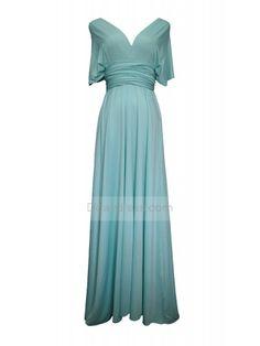Simple Style Convertible Full Length Bridesmaids Dress Pastel Mint Green #mint #bridesmaid #convertible #fulllength #ddaydress