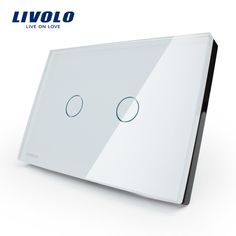 Manufacturer, LIVOLO Wall Switch, 110~250V, Ivory White Glass Panel, 2-gang, US Touch Light Switch VL-C302-81 with LED indicator  http://ali.pub/upvaq