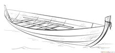 How to draw a Boat step by step. Drawing tutorials for kids and beginners.