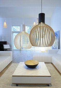 Lighting Ideas 2020 – How do you light up a room? - Home Decor Wood Pendant Light, Cheap Pendant Lights, Pendant Lamp, Birdcage Lamp, Nordic Home, Cool Furniture, Modern Decor, Living Room Decor, House Design
