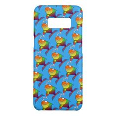 Cute Joyful Goldfish in Sea Light Blue Case-Mate Samsung Galaxy S8 Case - diy cyo customize create your own personalize