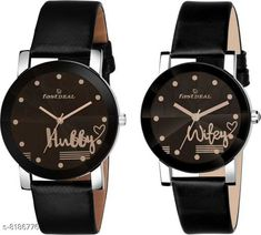 Watches FastDeals Hubby & Wifey couple Dial Leather Strep Couple Watch Analog Watch - For Men & Women Strap Material: Leather Display Type: Analogue Size: Free Size Add Ons: Additional Strap Multipack: 2 Country of Origin: India Sizes Available: Free Size   Catalog Rating: ★4.3 (508)  Catalog Name: Trendy Men Watches CatalogID_1362460 C65-SC1232 Code: 062-8186776-9921