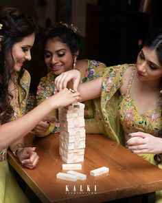 The Game Of Friendship:Sometimes the best photos are those unstaged. Candid shots such as this one capture you and your girls in your natural element and highlights the essence of your friendship. Best Friends For Life, Best Friend Goals, Wedding Looks, Wedding Wear, Bridal Dresses, Bridesmaid Dresses, Bridesmaids, Bridesmaid Makeup, Bff Goals