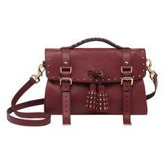 Mulberry - Tassel Bag in Black Forest Soft Matte