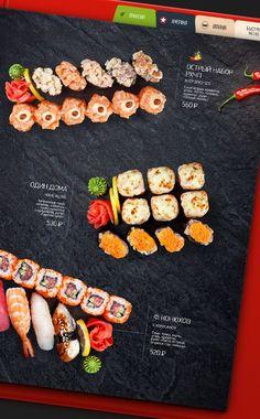 MAIN MENU | «Two Sticks» restaurant by Feel Factory, via Behance: