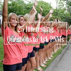 """sorority sugar Recruitment Prep: 25 Interesting Questions to Ask PNMs!  Interviewing PNMs during rounds can be quite challenging. So go beyond the standard ho-hum questions like, """"What's your major?"""" You'll have more interesting conversations and..."""