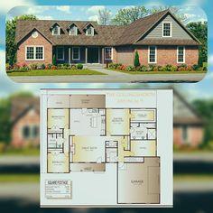 The Collingsworth Plan House Plans For Sale, Cabin House Plans, House Plans One Story, Tiny House Plans, House Floor Plans, Ranch Floor Plans, 2000 Sq Ft House, Room Above Garage, Custom Floor Plans