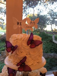 Butterfly - Wedding Cake - The Tipsy Cakery - Livermore, CA Bakery