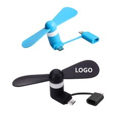 Cuitan Micro USB Android Phone Fan Pink Mini Portable Phone Cooler Fan for Samsung Notebook Android Devices Two Leaves Handheld Accessory Cooling Fan for Home Travel Office Outdoor Activities