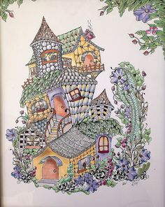 Zentangle-inspired fairy houses | by Hollyw54