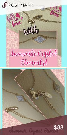 Swarvoski Crystal 'Evil Eye' Necklace Check out the new BOOTY ladies! This is a genuine Swarvoski Crystal Element necklace! Very dainty, pretty and simple. Matches with all of your attire! Make us an offer, bundle, like, share or buy now! Thanks! Swarovski Jewelry Necklaces
