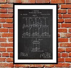 Brewing Beer Ale Print, Brewing Beer Ale Poster, Brewing Beer Ale Patent…
