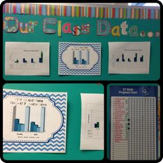 1st Grade Data Wall in Ms. Peterson's Class  @Melody Peterson