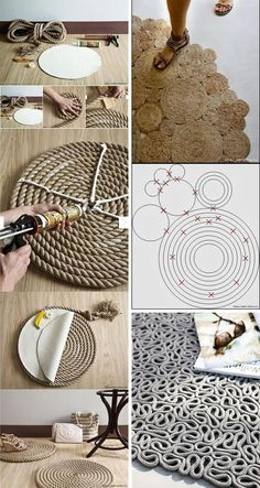 When selecting carpeting for your home you have many things to consider and many options to weigh. Carpets come in a vast array of colors and styles, textures and fibers and there are many differen… Rope Crafts, Diy Resin Crafts, Recycled Crafts, Diy Crafts To Sell, Diy Bedroom Decor, Diy Home Decor, Wall Paint Patterns, Macrame Patterns, Deco Design